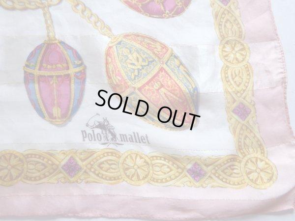 画像2: Polo mallet*ピンク色きらびやかな大判スカーフ