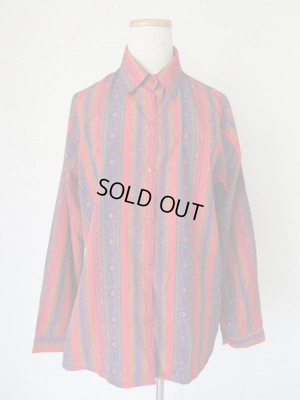 画像2: ペイズリー柄のゆったりシルエットシャツ