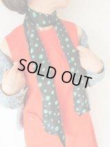 【未使用】グリーン水玉スカーフ