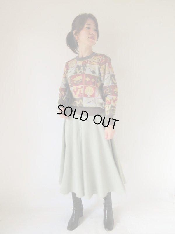 画像2: 大人のペールグリーンキュロットスカート