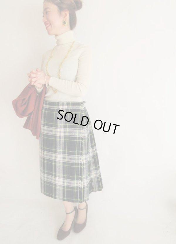 画像2: 海外vintage*チェック柄ラップスカート