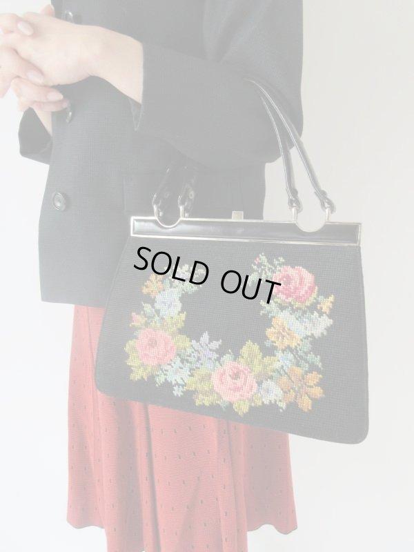 画像1: お花ステッチの乙女バッグ