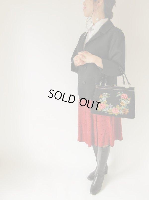 画像2: お花ステッチの乙女バッグ