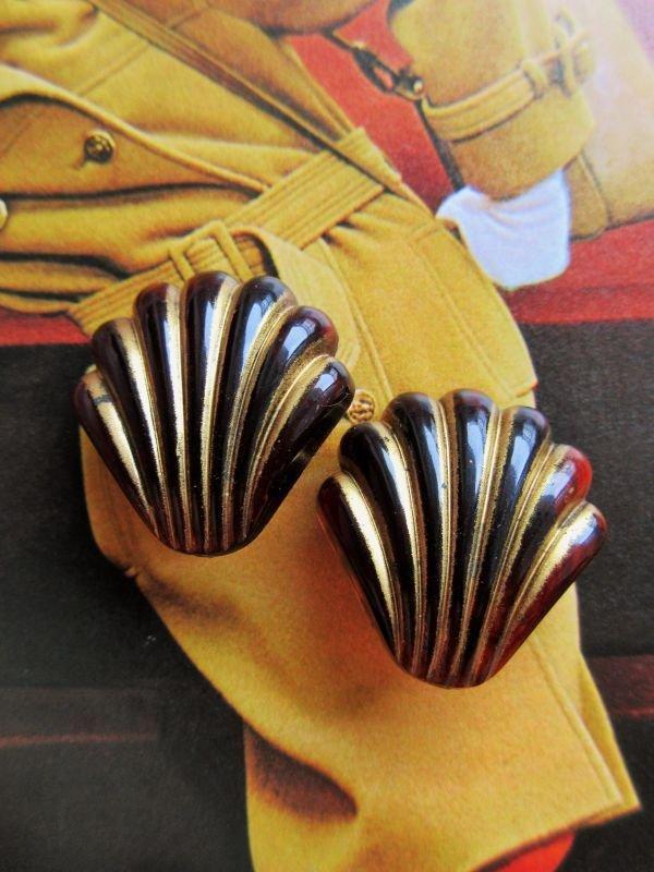 画像2: Dead stock*シェルのようなデザインのイヤリング