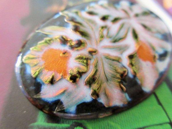 画像2: 七宝焼きのお花柄ブローチ