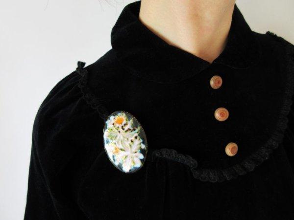画像5: 七宝焼きのお花柄ブローチ