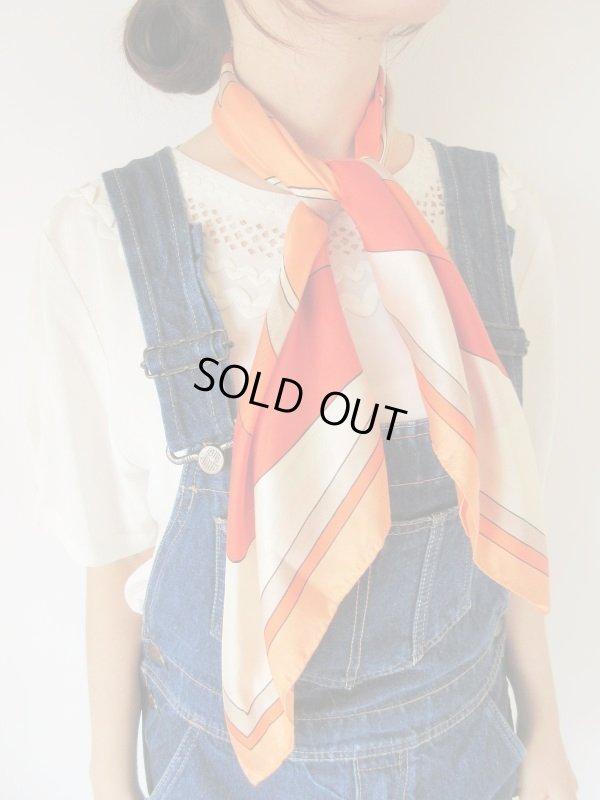 画像1: 大胆レトロなシルクスカーフ