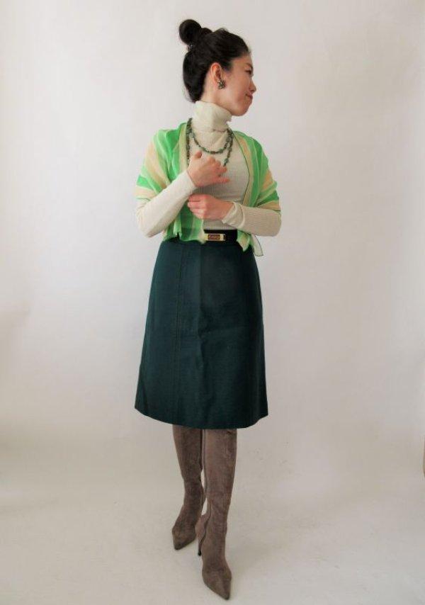 画像2: 【新鮮さを運ぶ配色*】ボーダー柄のシフォンスカーフ