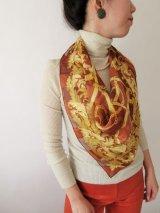 【Deadstock*大人カッコいい】豪華チェーンデザインスカーフ