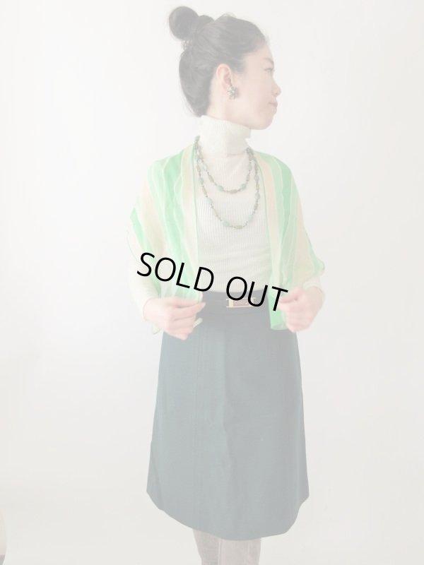 画像2: 【潔い深みグリーン*】ウエストバックルデザインスカート