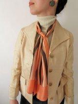 【このレトロ感が今新しい*】グラデーションボーダー柄スカーフ
