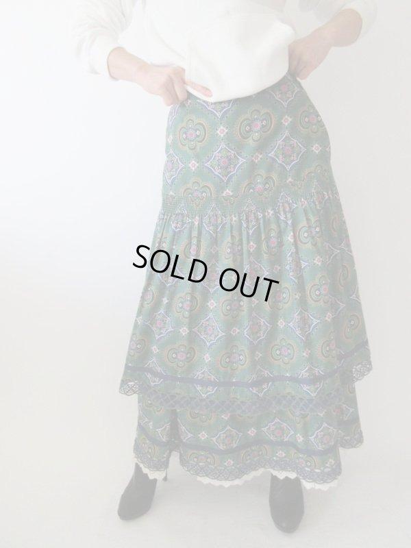 画像1: 【一気にあか抜け*】西ドイツ製マキシ丈スカート