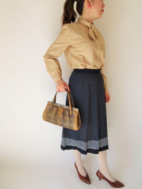 画像2: 【安定感のある可愛さ*】ステッチ柄スカート